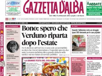 La copertina di Gazzetta d'Alba del 28 giugno 2016