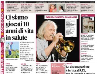 La copertina di Gazzetta d'Alba del 14 giugno 2016 1