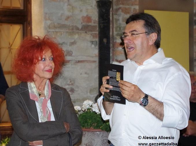 l'artista Margherita Mauro con Roberto Cerrato