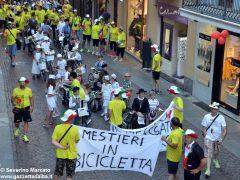 La sfilata del Meeting di ciclismo giovanissimi 2