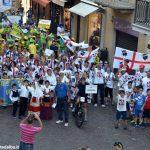 La sfilata del Meeting di ciclismo giovanissimi
