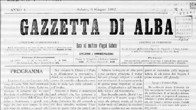 Gazzetta d'Alba compie 134 anni!