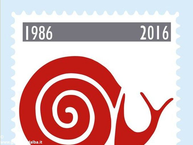 Un francobollo per i 30 anni di Slow Food