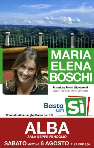 Il Ministro Maria Elena Boschi ad Alba il 6 agosto per il Sì al referendum 1