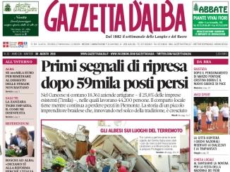 La copertina di Gazzetta d'Alba in edicola martedì 30 agosto
