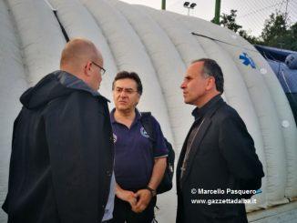 Cerrato a colloquio con il vescovo di Rieti Pompili e con il parroco di Accumoli