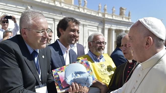 Il presidente del Csv Groppo ha incontrato Papa Francesco