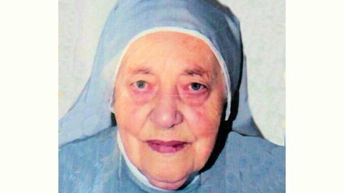 È morta suor Blandina, la storica portinaia della Provvidenza