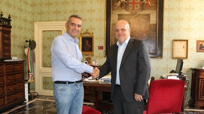 Il sindaco Marello incontra Giulio Valsania per ringraziarlo del dono ad Accumoli