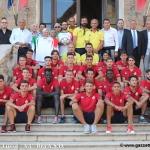 La prima squadra del Bra ricevuta in Municipio dal sindaco Bruna Sibille