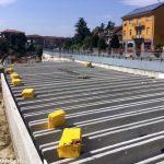 Coperti i primi quaranta metri di ferrovia in via Vittorio Veneto