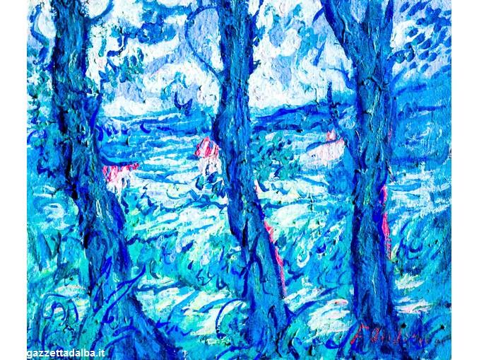 felice-andreasi-i-tronchi-blu-tecnica-mista-1992
