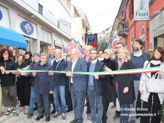 """Alba: inaugurata la restaurata via Alfieri. Marello: """"Nel 2017 tocca a corso Italia"""""""
