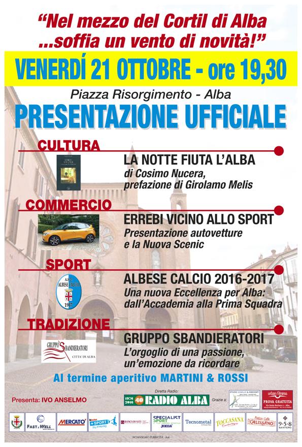L'Albese calcio si presenta in piazza del Duomo