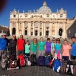 Nove pellegrini di Montà sul Cammino della luce tra Assisi e Roma