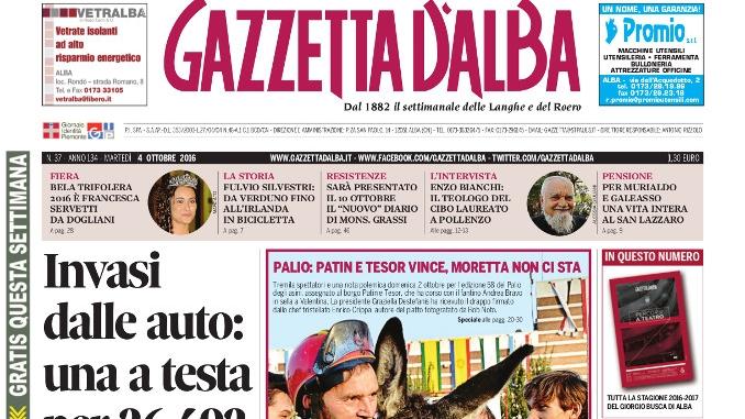 La copertina di Gazzetta d'Alba in edicola martedì 4 ottobre