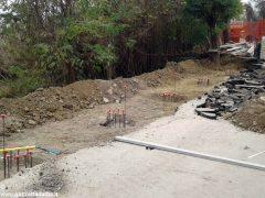 Frana in strada Bonora: Canale costretta a fare da sé 1