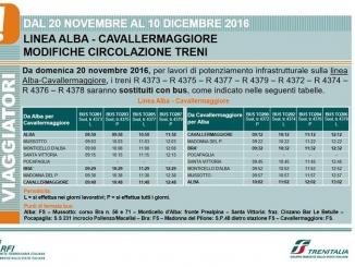 L'11 dicembre sarà il giorno del primo treno elettrico sulla linea Alba-Bra