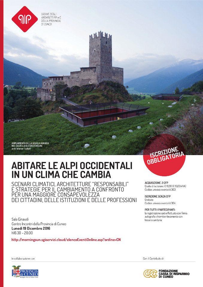 Abitare le Alpi occidentali in un clima che cambia, un convegno a Cuneo