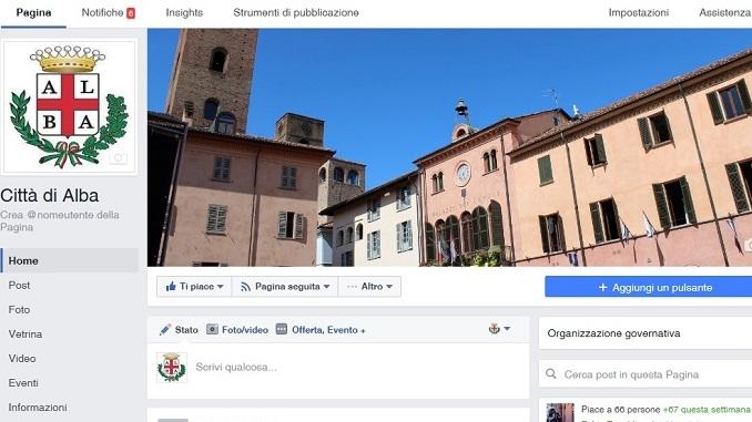Online la pagina Facebook ufficiale del comune di Alba