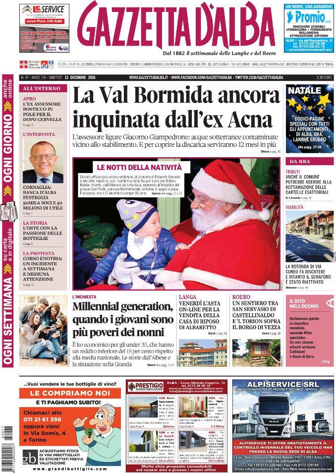 La copertina di Gazzetta in edicola martedì 13 dicembre