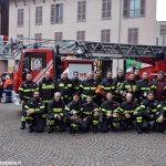 Festa in piazza per la nuova autoscala dei Vigili del fuoco di Alba