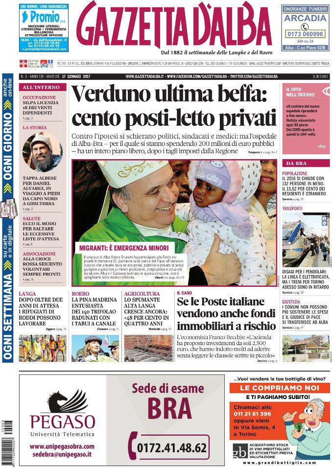 La copertina di Gazzetta in edicola martedì 17 gennaio