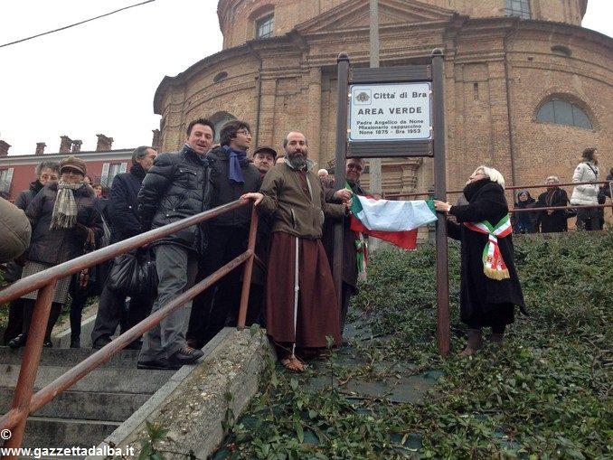 A Bra un'area verde è dedicata a padre Angelico da None