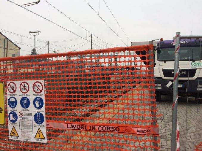 Lavori al primo marciapiede della stazione di Bra per facilitare l'accesso ai treni