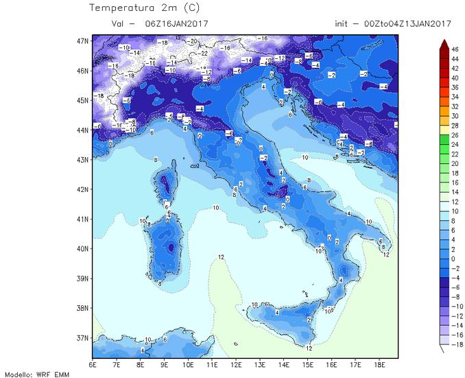 temperature minime 16-01-2017
