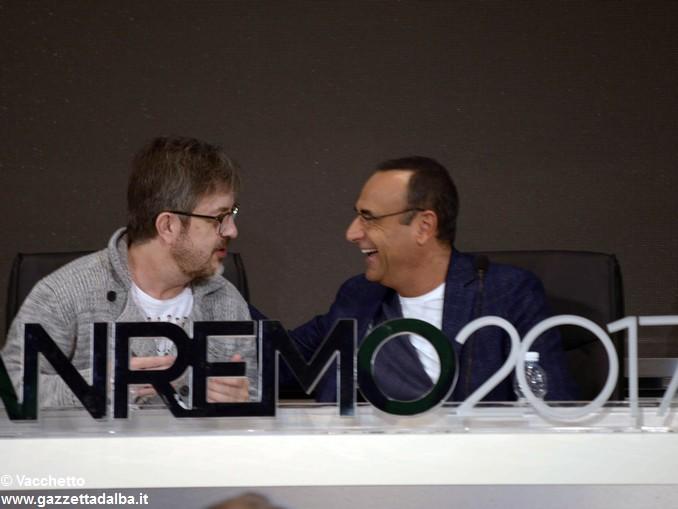 Sanremo Carlo Conti e Rocco Tanica