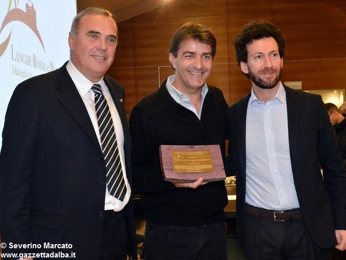 Vice e sindaco di Grinzane con cuoco Alléno Yannick