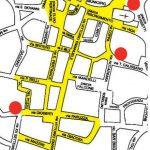 La mappa realizzata da Gazzetta della pedonalizzazione in avvio il primo marzo