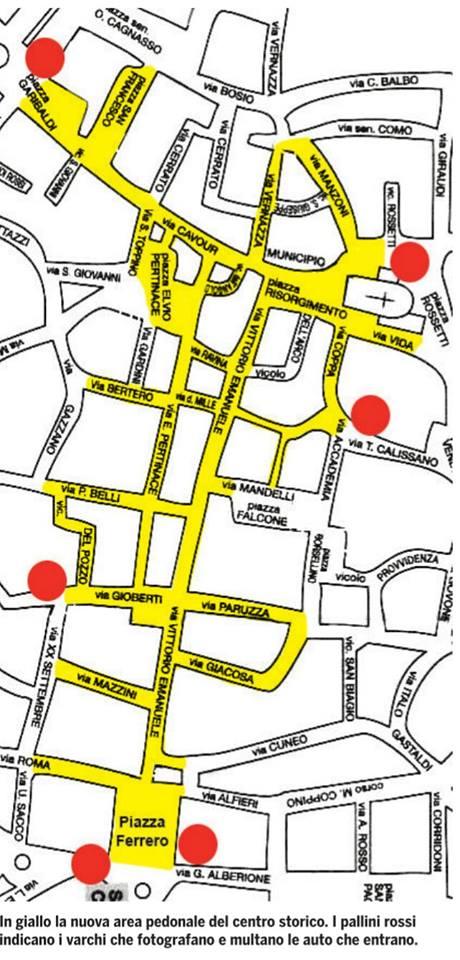 mappa pedonalizzazione