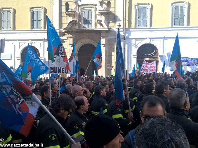 vigili fuoco conapo manifestazione roma 4