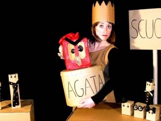 Agata e il suo piccolo mostro a Sinio per Burattinarte d'inverno