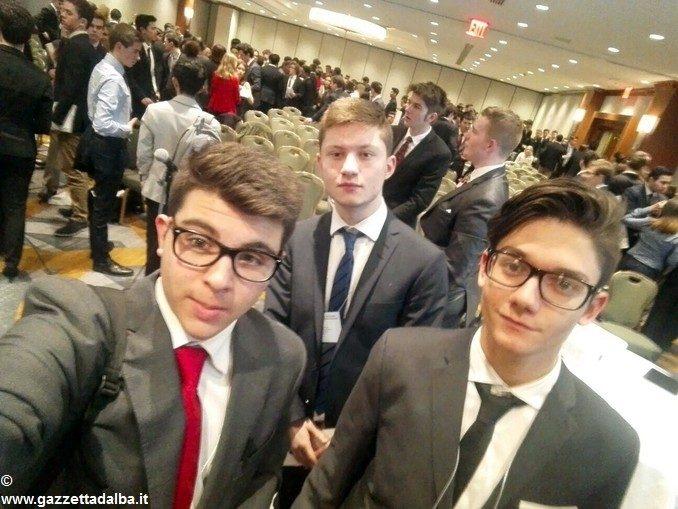 Nella New York imbiancata, i giovani diplomatici di Alba e Bra al lavoro all'Hilton 1