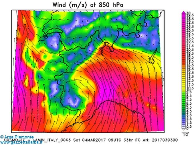arpa vento 4 marzo