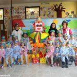 Gran falò di Carnevale nella scuola dell'infanzia di Cortemilia