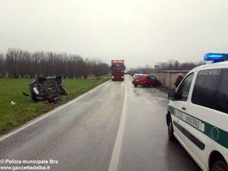 Tre incidenti stradali in una sola mattina a Bra