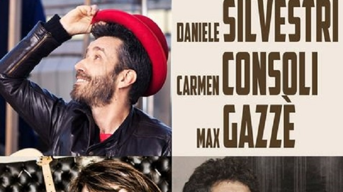 Max Gazzè, Carmen Consoli e Daniele Silvestri nel sabato di Collisioni