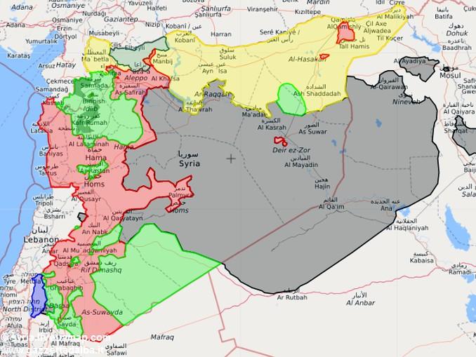 cartina siria
