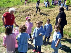 Dietro al Salone di Vezza nascerà un bosco, grazie ai bimbi e alla Regione 6