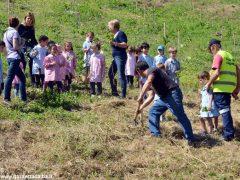 Dietro al Salone di Vezza nascerà un bosco, grazie ai bimbi e alla Regione 8