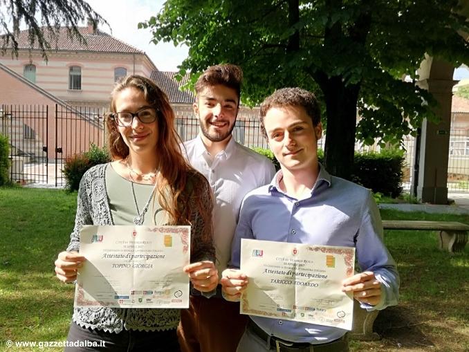 """Tre studenti del liceo classico """"Govone"""" di Alba brillano al Certamen di Venaria Reale"""
