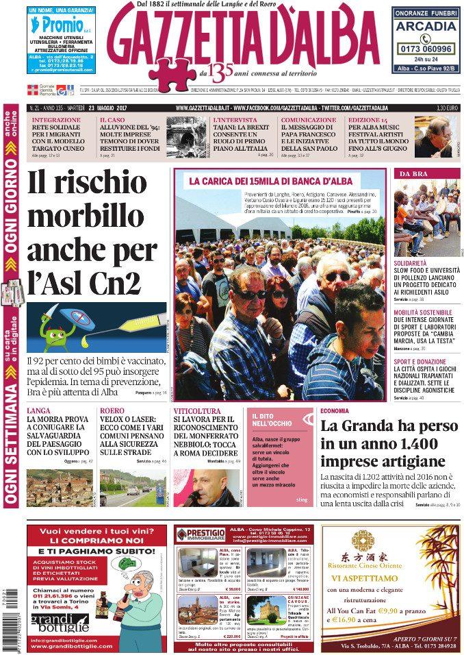 La copertina di Gazzetta di martedì 23 maggio 1