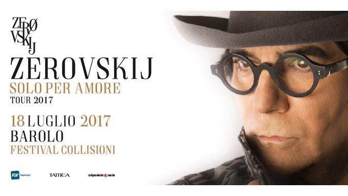 Collisioni annuncia un nuovo appuntamento: Renato Zero in concerto a Barolo il 18 luglio