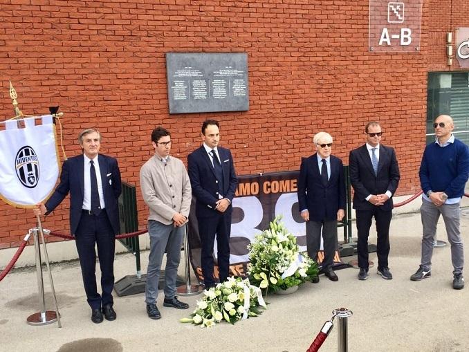 Cerimonia in memoria delle vittime dell'Heysel con un pensiero a Erika Pioletti