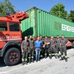 La Michelin dona un container da addestramento ai Vigili del fuoco