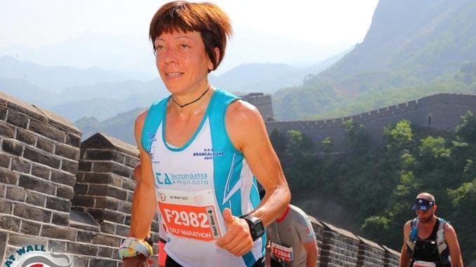 Elisa Almondo, che ha conquistato la grande muraglia cinese